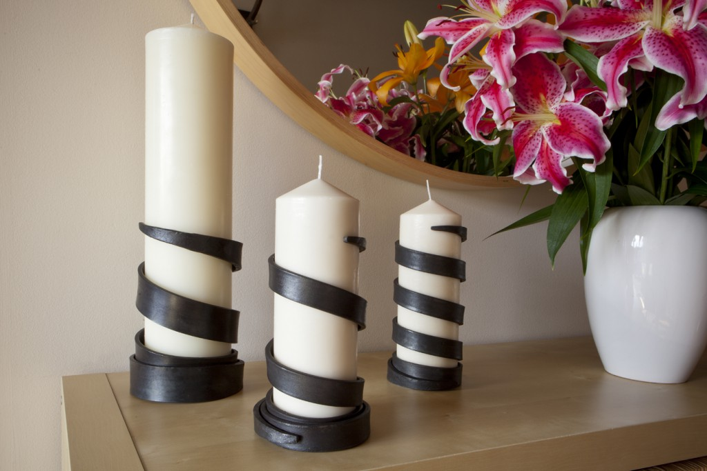 James Ritchie Steel Spiral Candle holder
